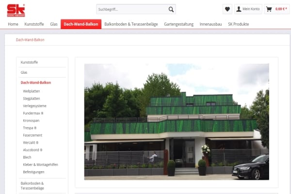 Kunststoffe und Glas Onlineshop SK Scheidel Leistungen